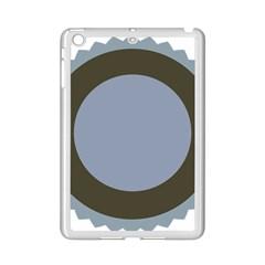 Circle Round Grey Blue iPad Mini 2 Enamel Coated Cases