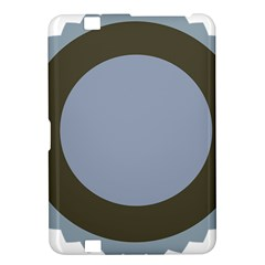 Circle Round Grey Blue Kindle Fire HD 8.9