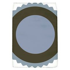 Circle Round Grey Blue Flap Covers (L)