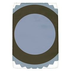 Circle Round Grey Blue Flap Covers (S)