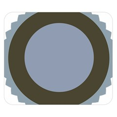 Circle Round Grey Blue Double Sided Flano Blanket (Small)