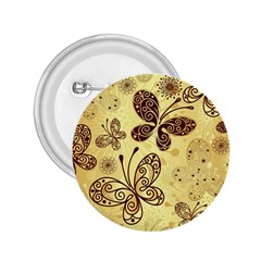 Butterfly Animals Fly Purple Gold Polkadot Flower Floral Star Sunflower 2.25  Buttons