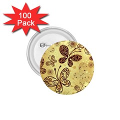 Butterfly Animals Fly Purple Gold Polkadot Flower Floral Star Sunflower 1.75  Buttons (100 pack)