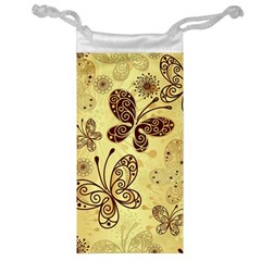Butterfly Animals Fly Purple Gold Polkadot Flower Floral Star Sunflower Jewelry Bag