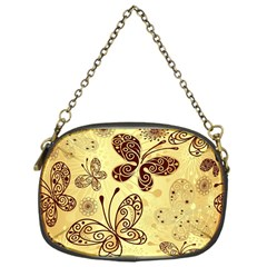 Butterfly Animals Fly Purple Gold Polkadot Flower Floral Star Sunflower Chain Purses (One Side)