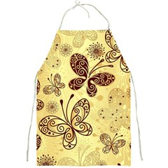 Butterfly Animals Fly Purple Gold Polkadot Flower Floral Star Sunflower Full Print Aprons