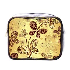 Butterfly Animals Fly Purple Gold Polkadot Flower Floral Star Sunflower Mini Toiletries Bags