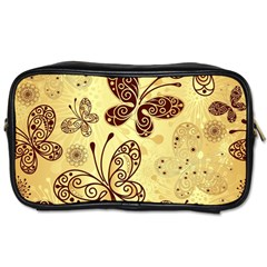 Butterfly Animals Fly Purple Gold Polkadot Flower Floral Star Sunflower Toiletries Bags 2-Side