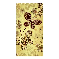 Butterfly Animals Fly Purple Gold Polkadot Flower Floral Star Sunflower Shower Curtain 36  x 72  (Stall)