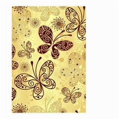 Butterfly Animals Fly Purple Gold Polkadot Flower Floral Star Sunflower Small Garden Flag (Two Sides)