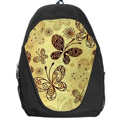 Butterfly Animals Fly Purple Gold Polkadot Flower Floral Star Sunflower Backpack Bag