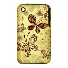 Butterfly Animals Fly Purple Gold Polkadot Flower Floral Star Sunflower iPhone 3S/3GS
