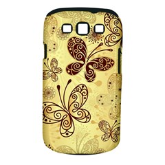 Butterfly Animals Fly Purple Gold Polkadot Flower Floral Star Sunflower Samsung Galaxy S III Classic Hardshell Case (PC+Silicone)