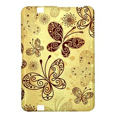 Butterfly Animals Fly Purple Gold Polkadot Flower Floral Star Sunflower Kindle Fire HD 8.9