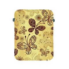 Butterfly Animals Fly Purple Gold Polkadot Flower Floral Star Sunflower Apple iPad 2/3/4 Protective Soft Cases