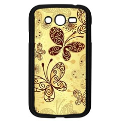 Butterfly Animals Fly Purple Gold Polkadot Flower Floral Star Sunflower Samsung Galaxy Grand DUOS I9082 Case (Black)