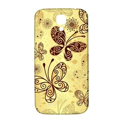 Butterfly Animals Fly Purple Gold Polkadot Flower Floral Star Sunflower Samsung Galaxy S4 I9500/I9505  Hardshell Back Case