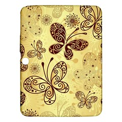 Butterfly Animals Fly Purple Gold Polkadot Flower Floral Star Sunflower Samsung Galaxy Tab 3 (10.1 ) P5200 Hardshell Case