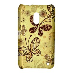 Butterfly Animals Fly Purple Gold Polkadot Flower Floral Star Sunflower Nokia Lumia 620