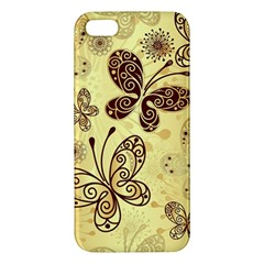 Butterfly Animals Fly Purple Gold Polkadot Flower Floral Star Sunflower iPhone 5S/ SE Premium Hardshell Case