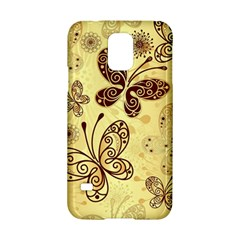 Butterfly Animals Fly Purple Gold Polkadot Flower Floral Star Sunflower Samsung Galaxy S5 Hardshell Case