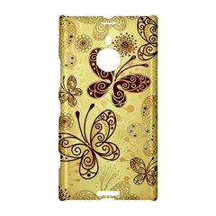 Butterfly Animals Fly Purple Gold Polkadot Flower Floral Star Sunflower Nokia Lumia 1520
