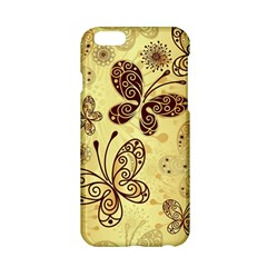 Butterfly Animals Fly Purple Gold Polkadot Flower Floral Star Sunflower Apple iPhone 6/6S Hardshell Case