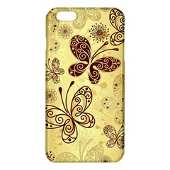 Butterfly Animals Fly Purple Gold Polkadot Flower Floral Star Sunflower iPhone 6 Plus/6S Plus TPU Case