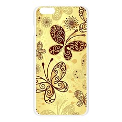 Butterfly Animals Fly Purple Gold Polkadot Flower Floral Star Sunflower Apple Seamless iPhone 6 Plus/6S Plus Case (Transparent)