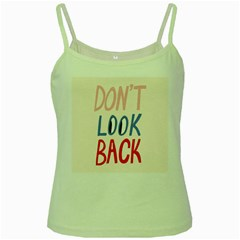 Don t Look Back Big Eye Pink Red Blue Sexy Green Spaghetti Tank