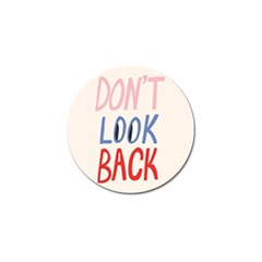 Don t Look Back Big Eye Pink Red Blue Sexy Golf Ball Marker (4 pack)