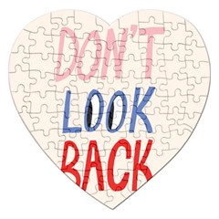 Don t Look Back Big Eye Pink Red Blue Sexy Jigsaw Puzzle (Heart)