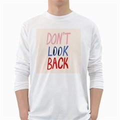 Don t Look Back Big Eye Pink Red Blue Sexy White Long Sleeve T-Shirts