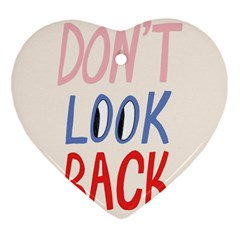 Don t Look Back Big Eye Pink Red Blue Sexy Heart Ornament (Two Sides)