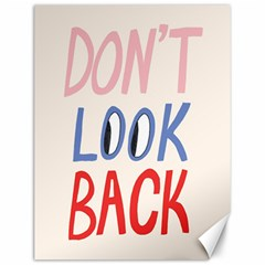 Don t Look Back Big Eye Pink Red Blue Sexy Canvas 12  X 16
