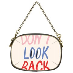 Don t Look Back Big Eye Pink Red Blue Sexy Chain Purses (One Side)