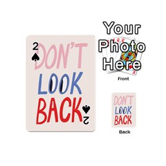 Don t Look Back Big Eye Pink Red Blue Sexy Playing Cards 54 (Mini)