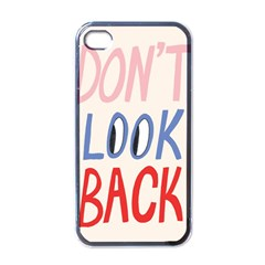 Don t Look Back Big Eye Pink Red Blue Sexy Apple Iphone 4 Case (black)