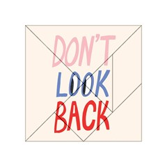 Don t Look Back Big Eye Pink Red Blue Sexy Acrylic Tangram Puzzle (4  x 4 )