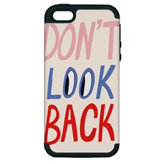 Don t Look Back Big Eye Pink Red Blue Sexy Apple iPhone 5 Hardshell Case (PC+Silicone)