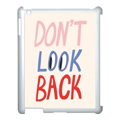 Don t Look Back Big Eye Pink Red Blue Sexy Apple iPad 3/4 Case (White)