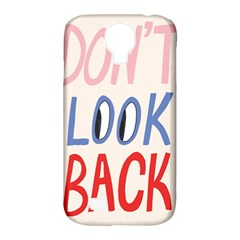 Don t Look Back Big Eye Pink Red Blue Sexy Samsung Galaxy S4 Classic Hardshell Case (PC+Silicone)