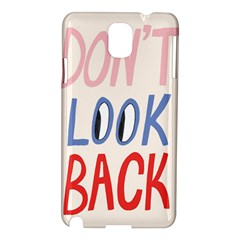 Don t Look Back Big Eye Pink Red Blue Sexy Samsung Galaxy Note 3 N9005 Hardshell Case