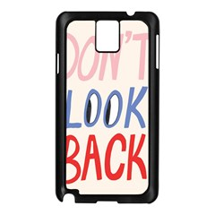Don t Look Back Big Eye Pink Red Blue Sexy Samsung Galaxy Note 3 N9005 Case (Black)