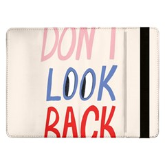 Don t Look Back Big Eye Pink Red Blue Sexy Samsung Galaxy Tab Pro 12.2  Flip Case