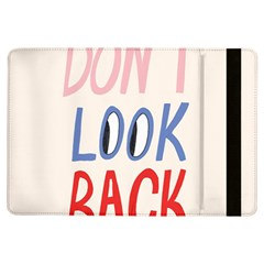 Don t Look Back Big Eye Pink Red Blue Sexy iPad Air Flip