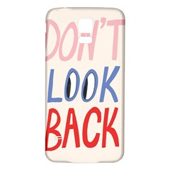 Don t Look Back Big Eye Pink Red Blue Sexy Samsung Galaxy S5 Back Case (white)