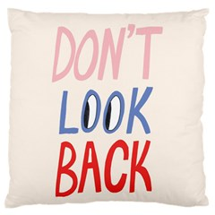 Don t Look Back Big Eye Pink Red Blue Sexy Large Flano Cushion Case (One Side)