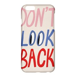Don t Look Back Big Eye Pink Red Blue Sexy Apple iPhone 6 Plus/6S Plus Hardshell Case