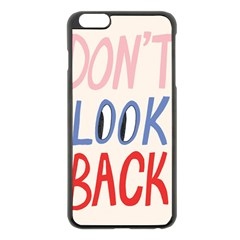 Don t Look Back Big Eye Pink Red Blue Sexy Apple iPhone 6 Plus/6S Plus Black Enamel Case